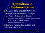 difficulties in implementation14