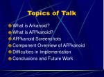 topics of talk