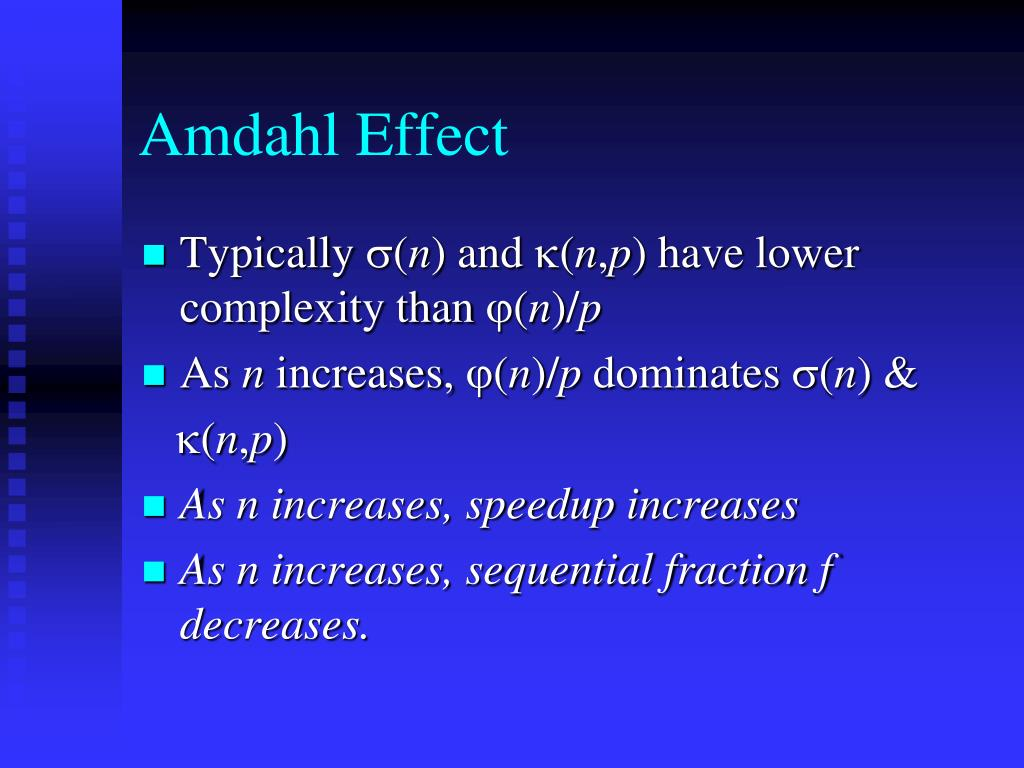 Amdahl Effect