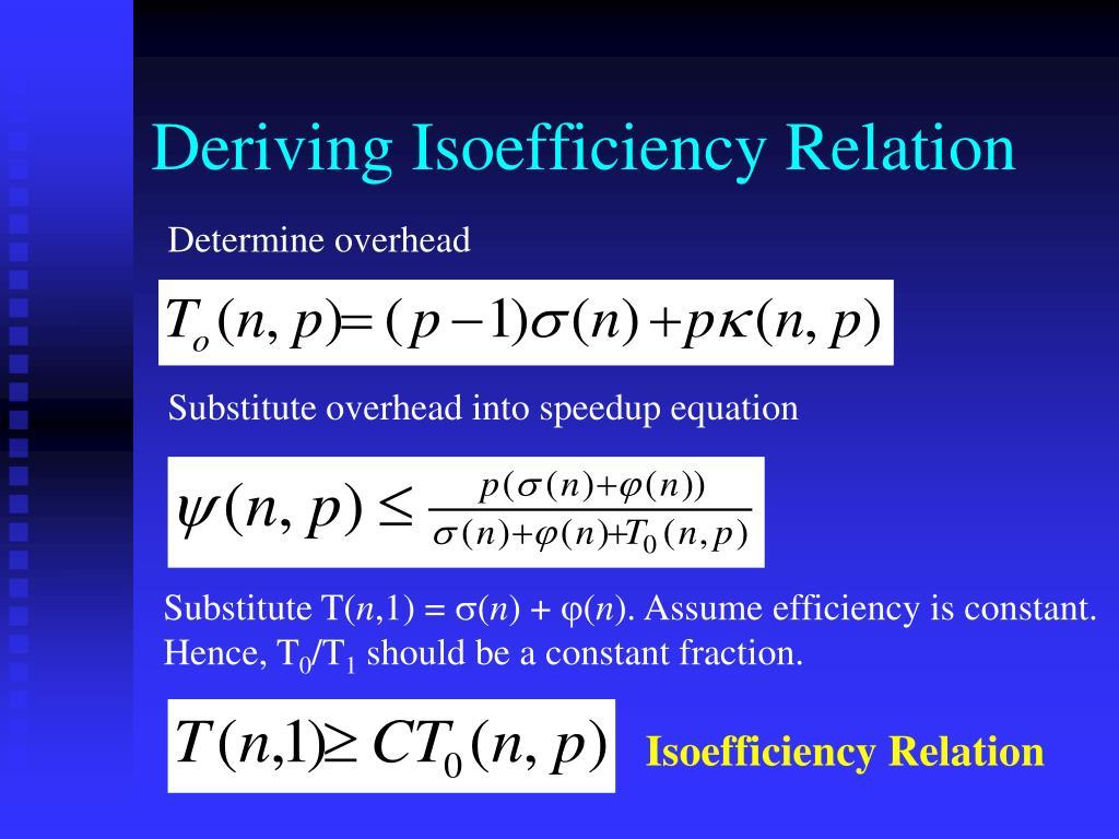 Deriving Isoefficiency Relation
