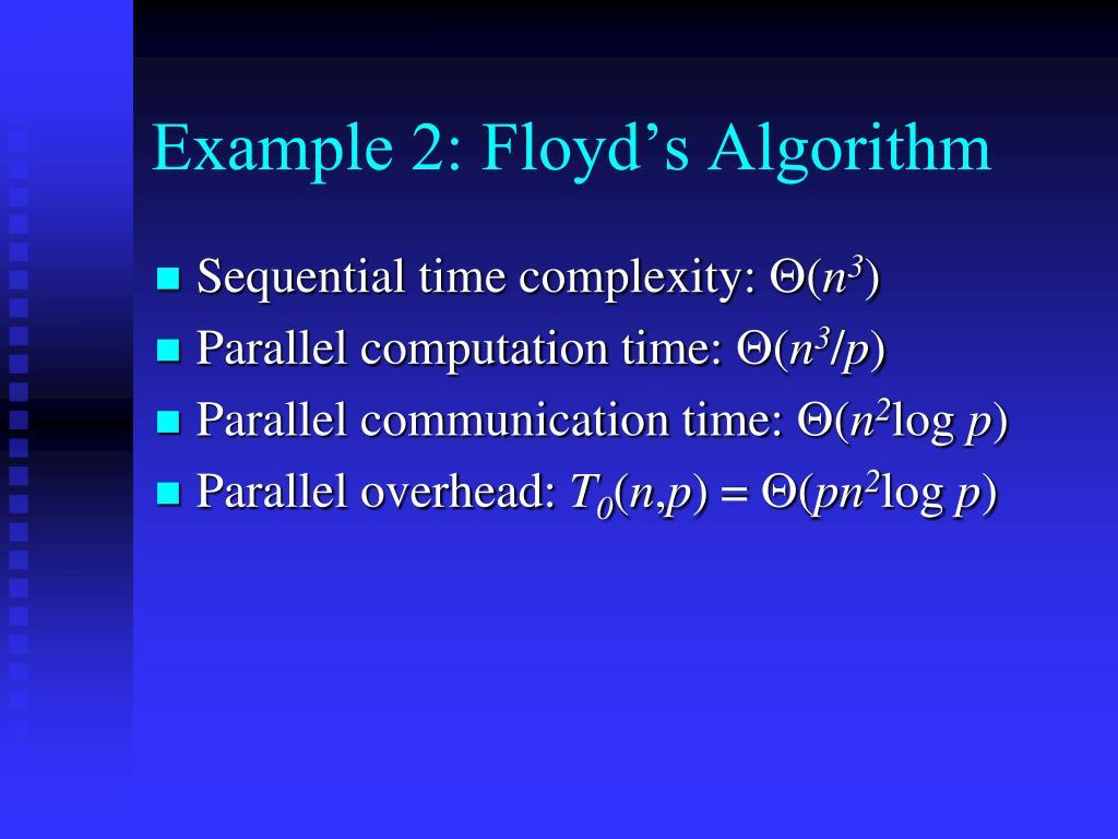 Example 2: Floyd's Algorithm