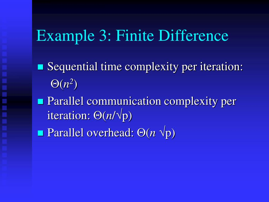 Example 3: Finite Difference