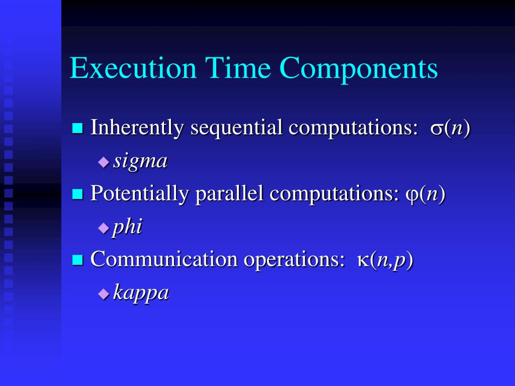 Execution Time Components