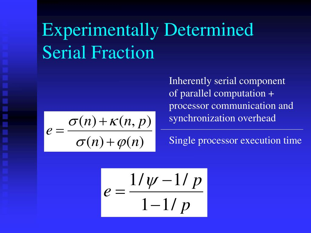 Experimentally Determined Serial Fraction