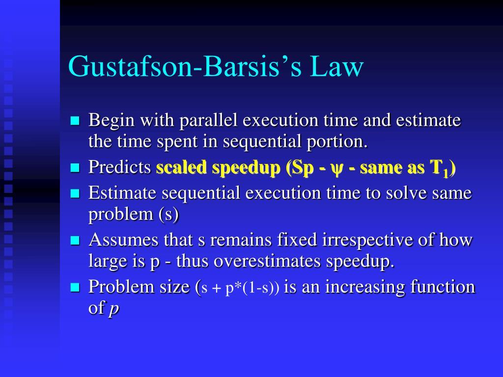 Gustafson-Barsis's Law