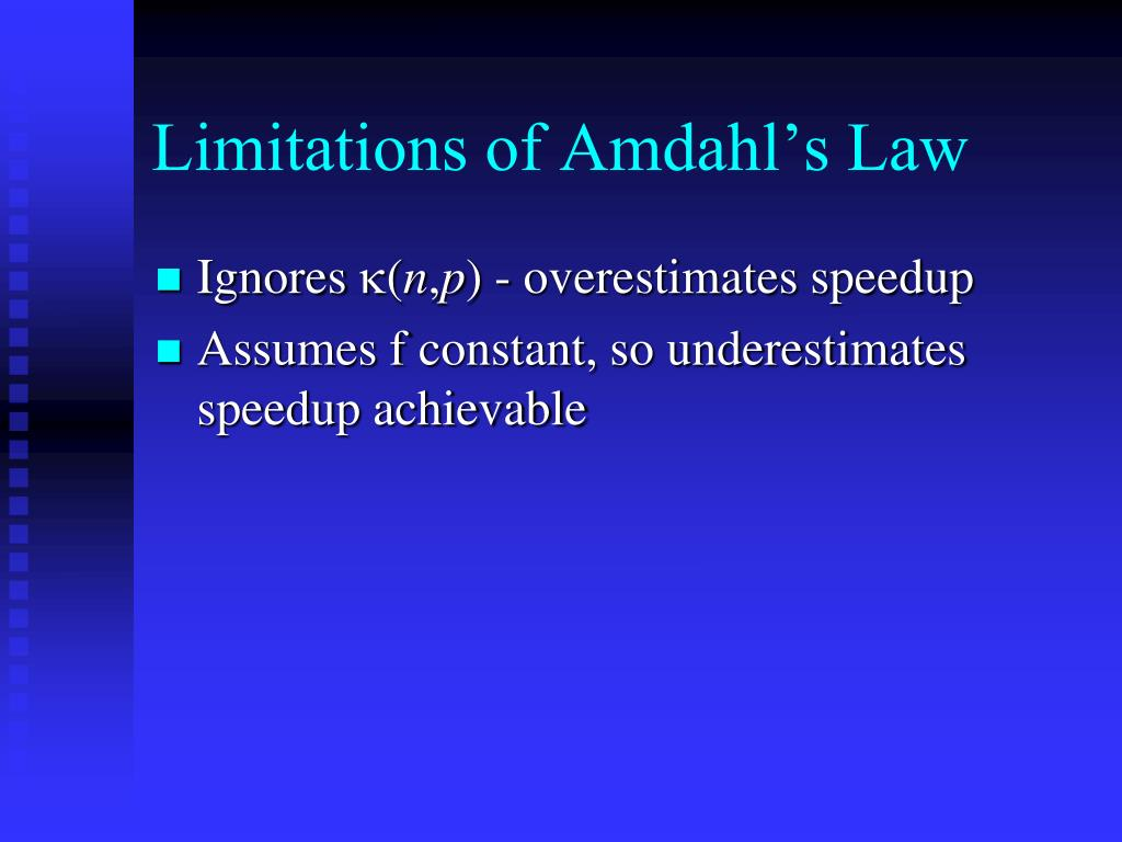 Limitations of Amdahl's Law