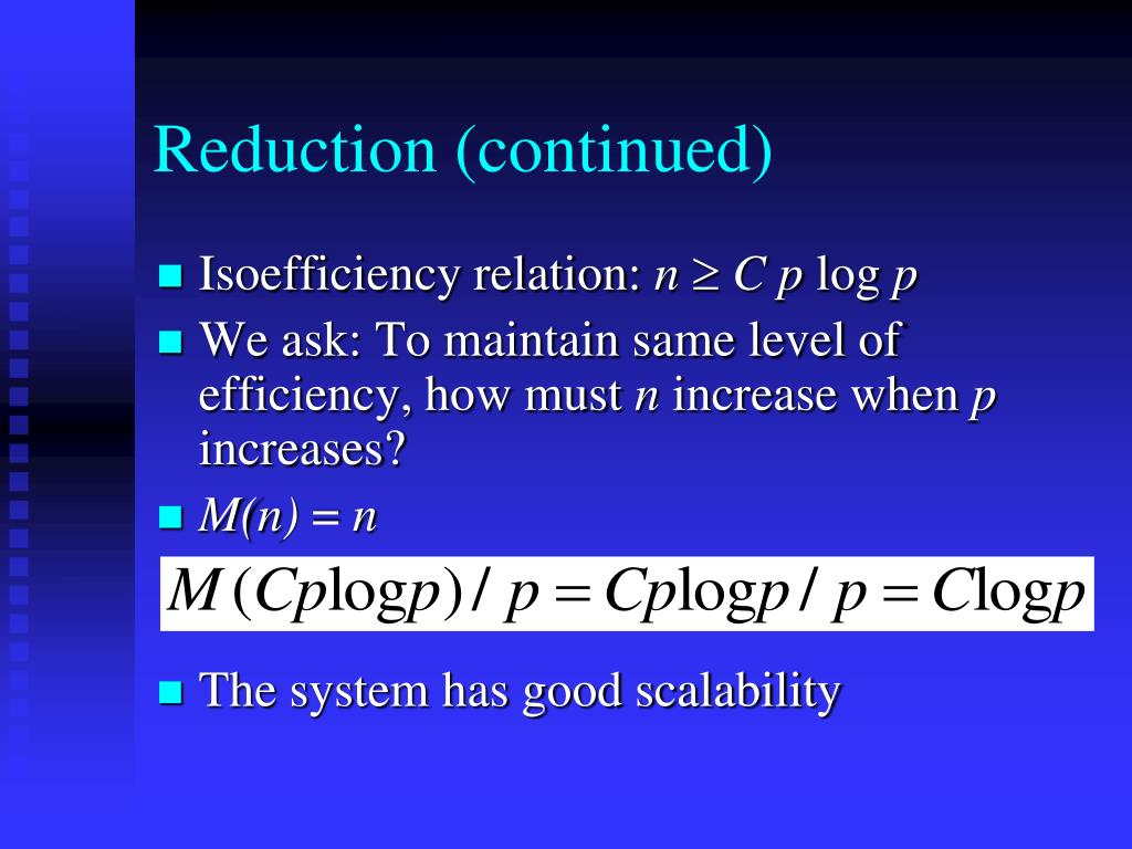 Reduction (continued)