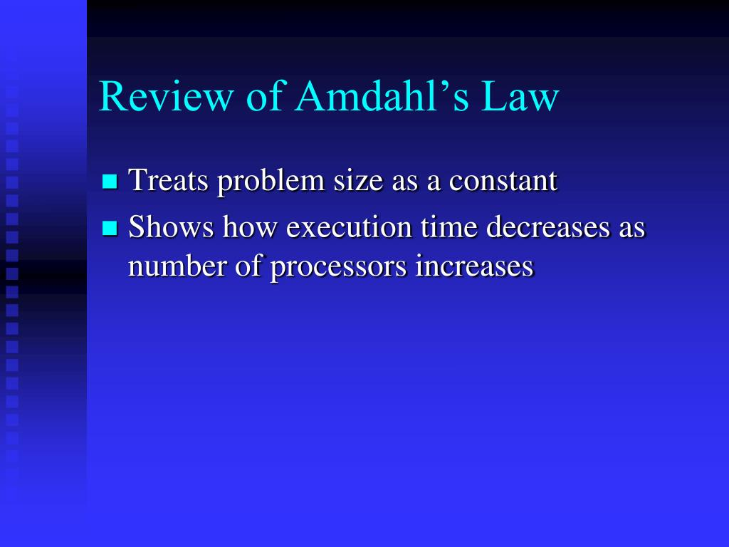 Review of Amdahl's Law