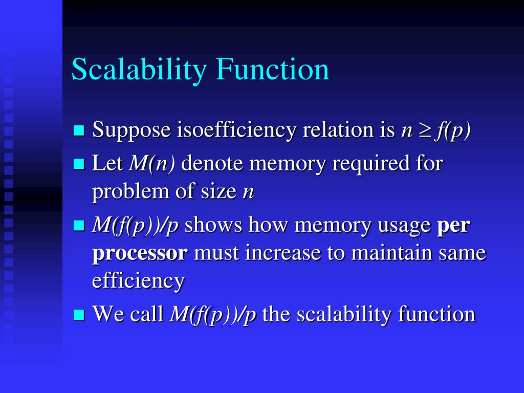 Scalability Function