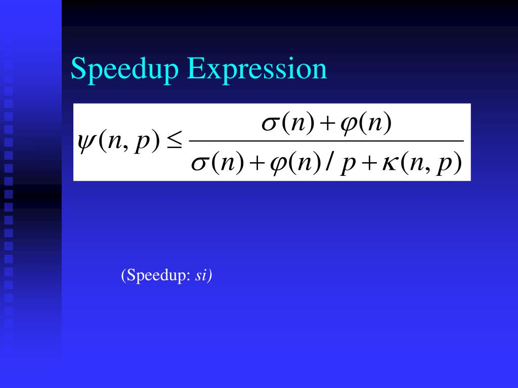 Speedup Expression
