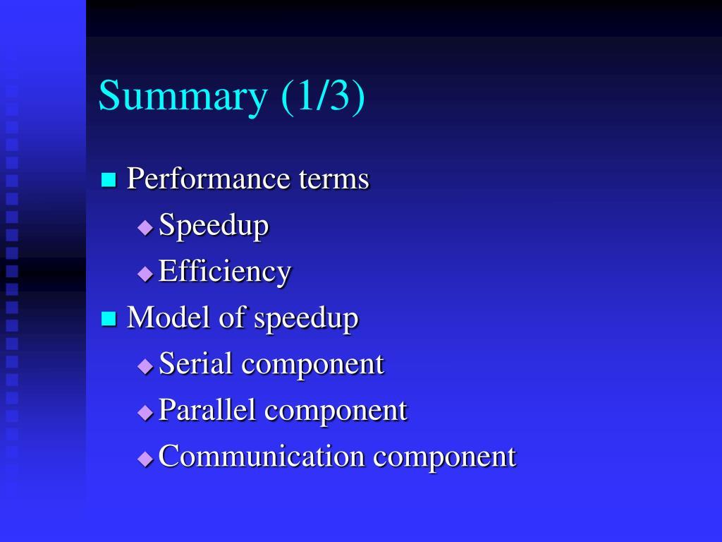 Summary (1/3)