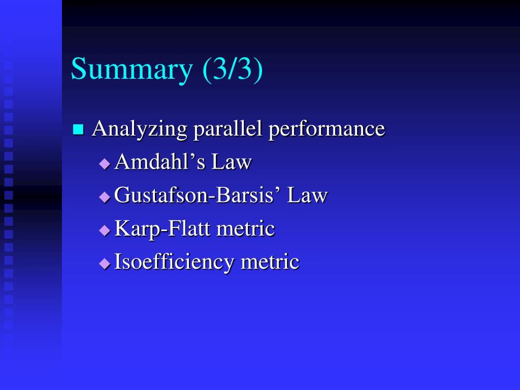 Summary (3/3)