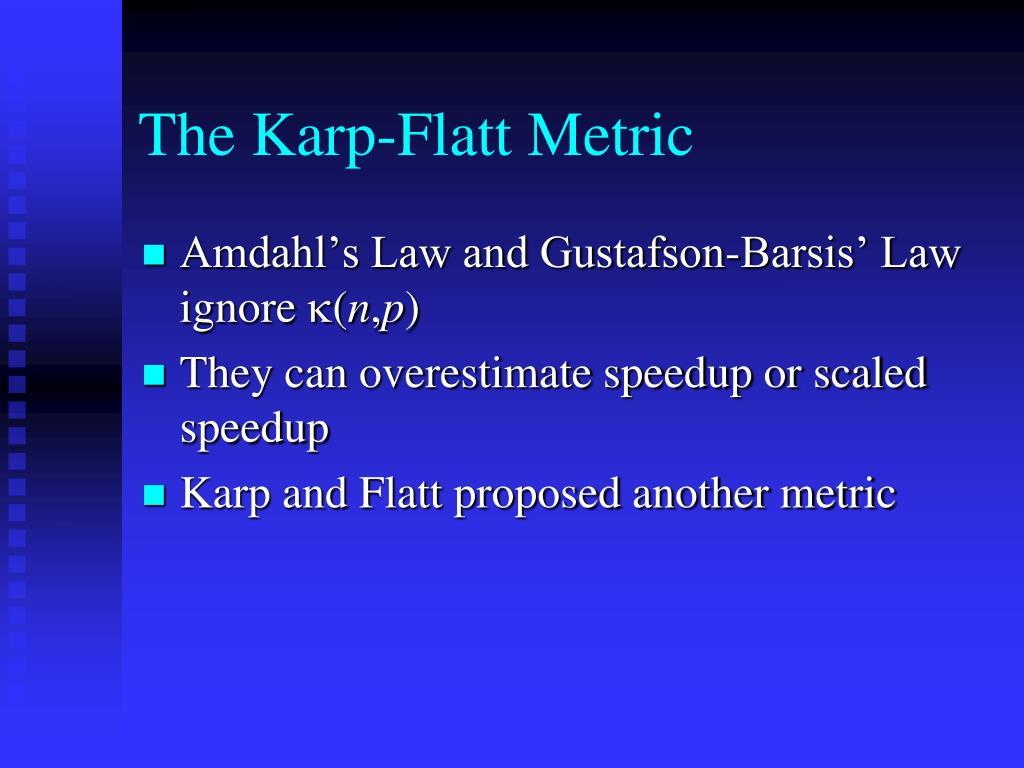 The Karp-Flatt Metric