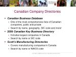 canadian company directories