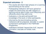 expected outcomes 2