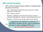 jisc and the academy