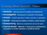 learning about yourself values7