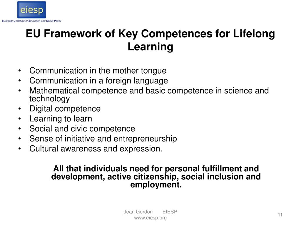 EU Framework of Key Competences for Lifelong Learning