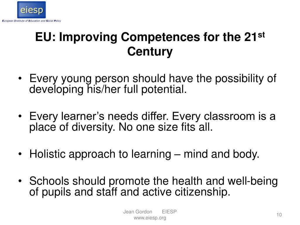 EU: Improving Competences for the 21