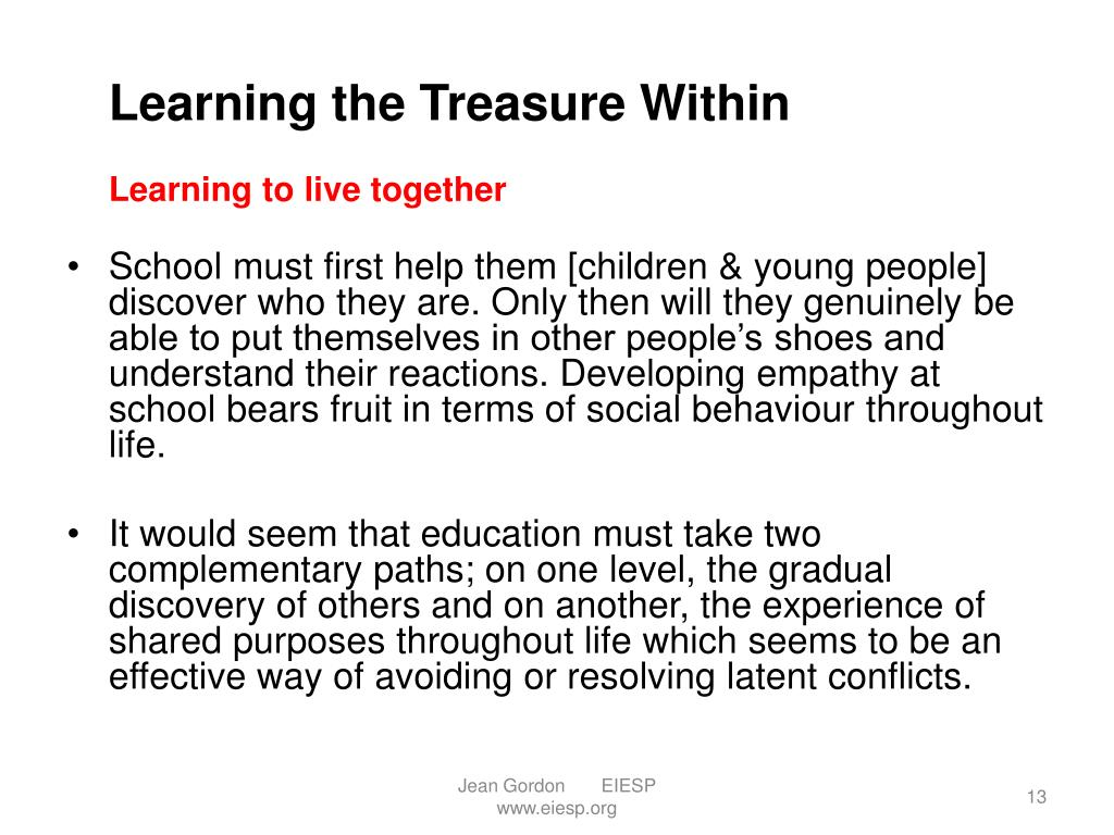Learning the Treasure Within