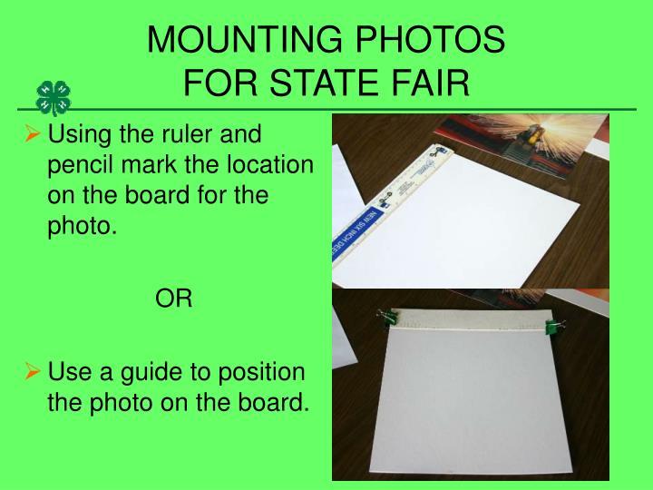 MOUNTING PHOTOS