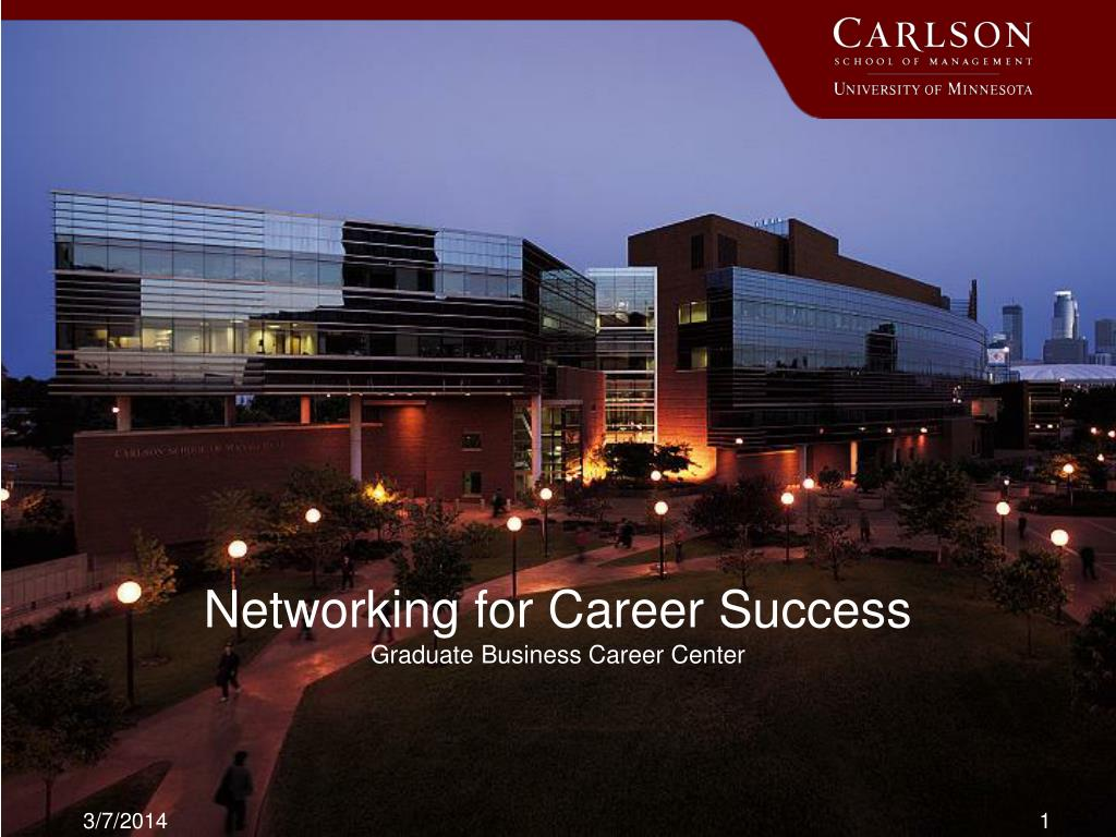 networking for career success graduate business career center l.