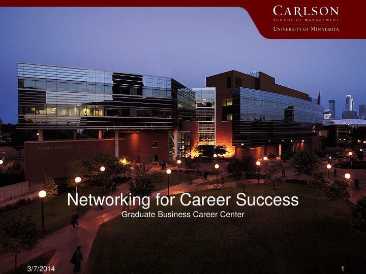 networking for career success graduate business career center n.