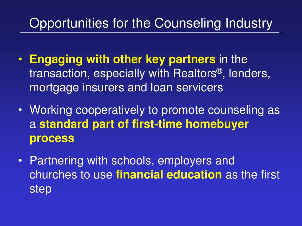 Opportunities for the Counseling Industry