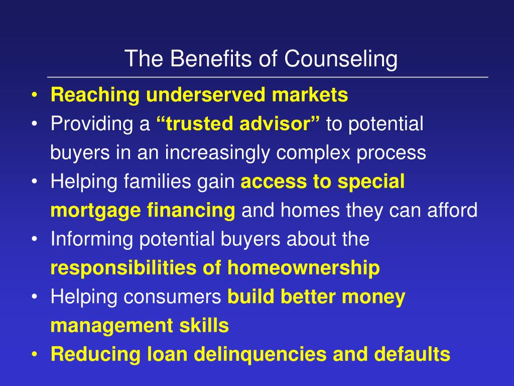 The Benefits of Counseling