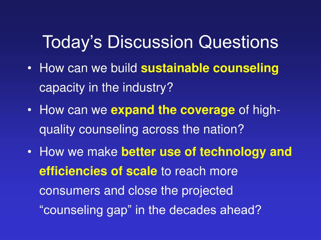 Today's Discussion Questions