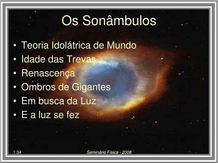 Os son mbulos