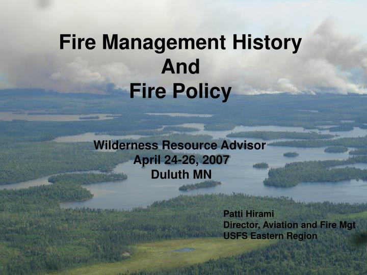 Fire Management History