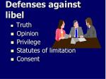 defenses against libel