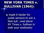 new york times v sullivan 1964