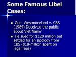 some famous libel cases42