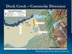 duck creek camanche diversion