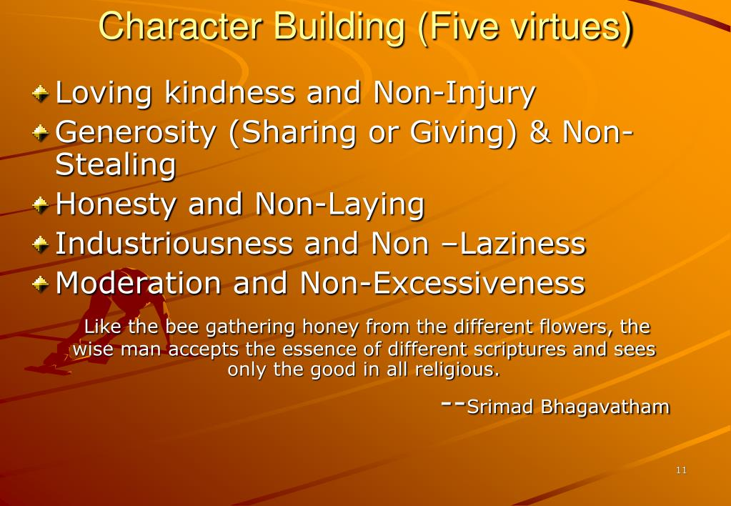 Character Building (Five virtues)