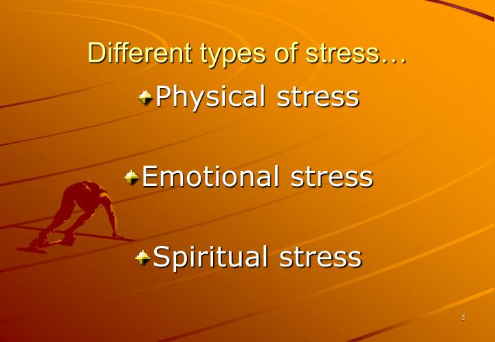 Different types of stress