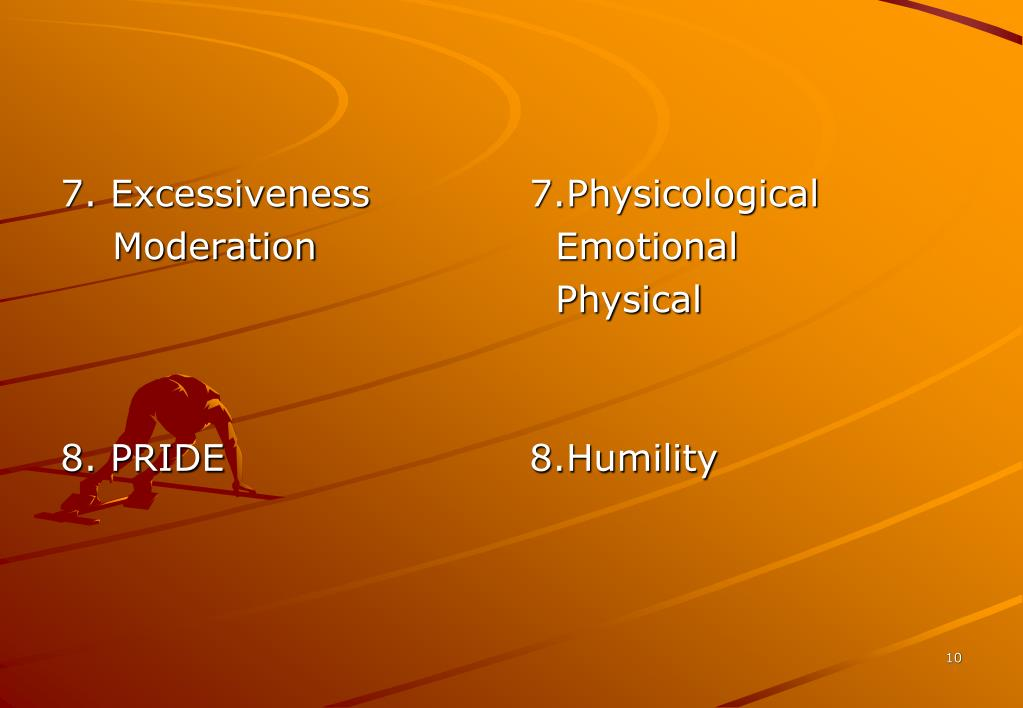 7. Excessiveness