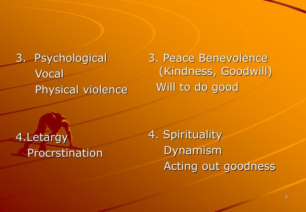 3.  Psychological