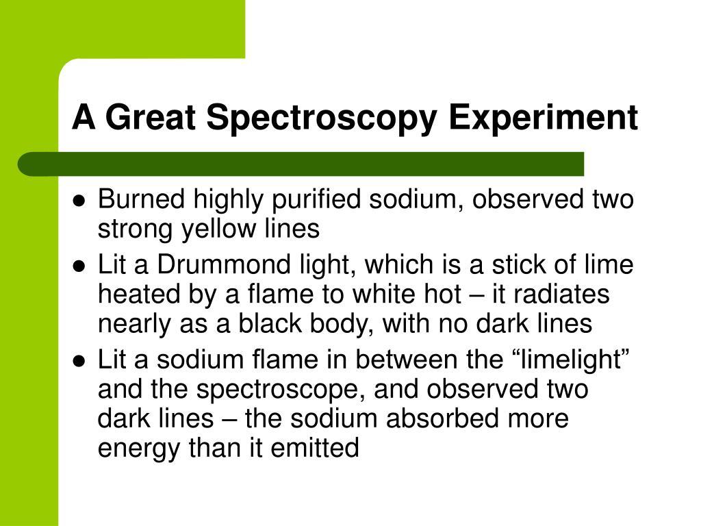 A Great Spectroscopy Experiment