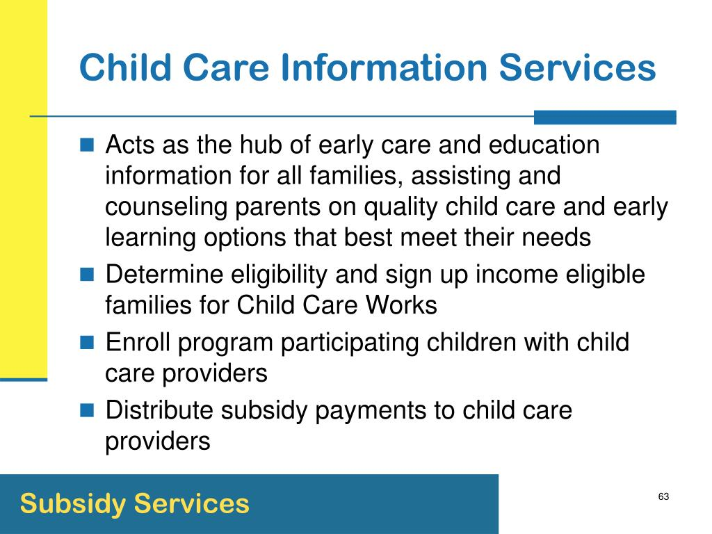 Child Care Information Services