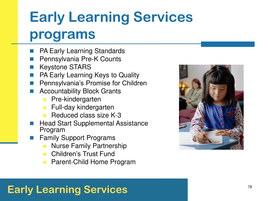 Early Learning Services programs