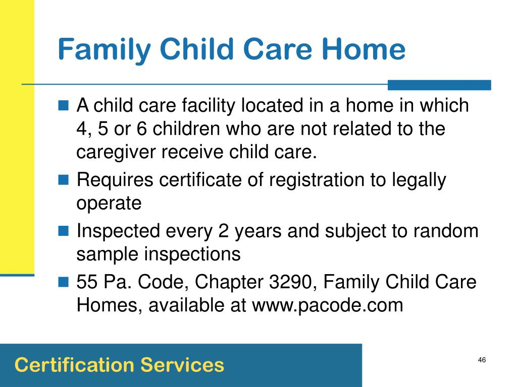 Family Child Care Home