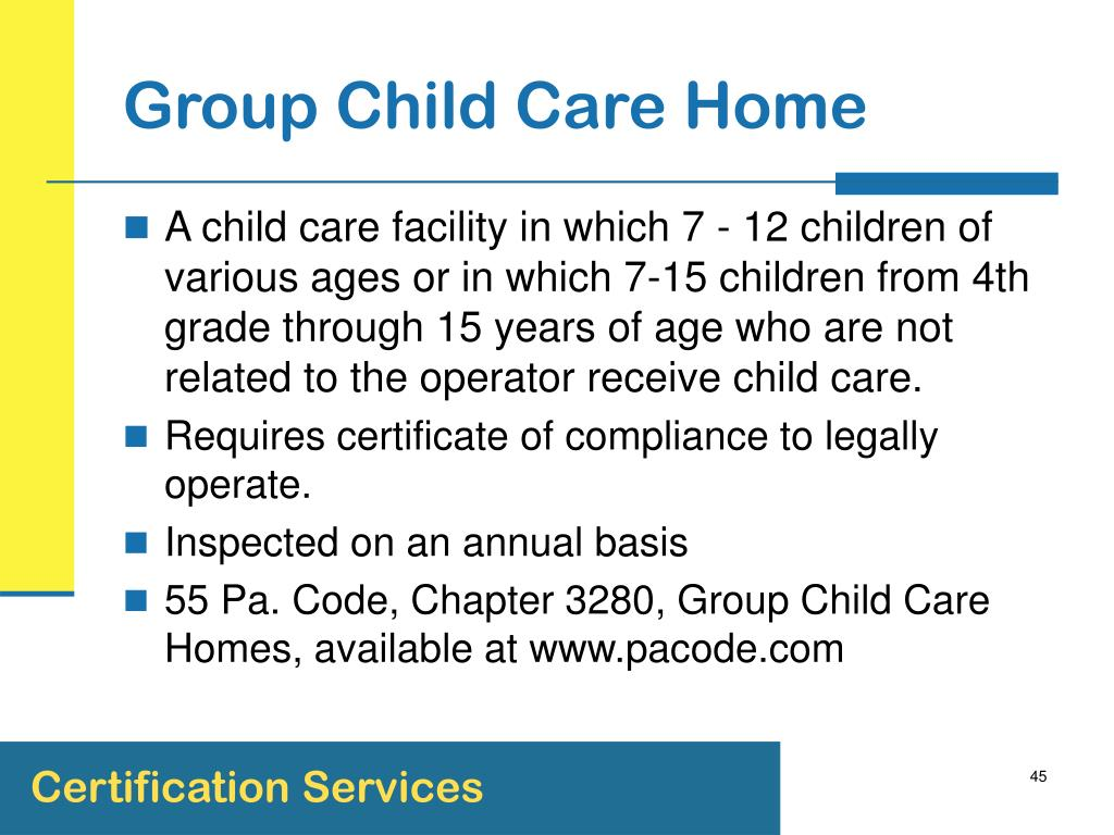 Group Child Care Home