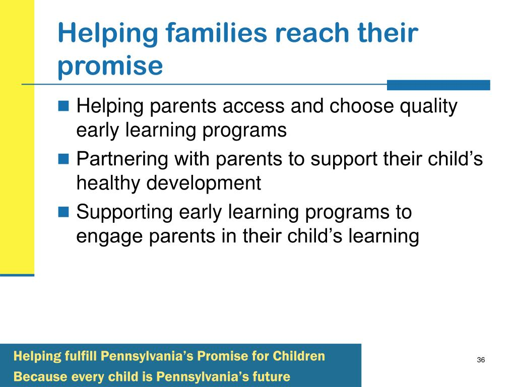 Helping families reach their promise