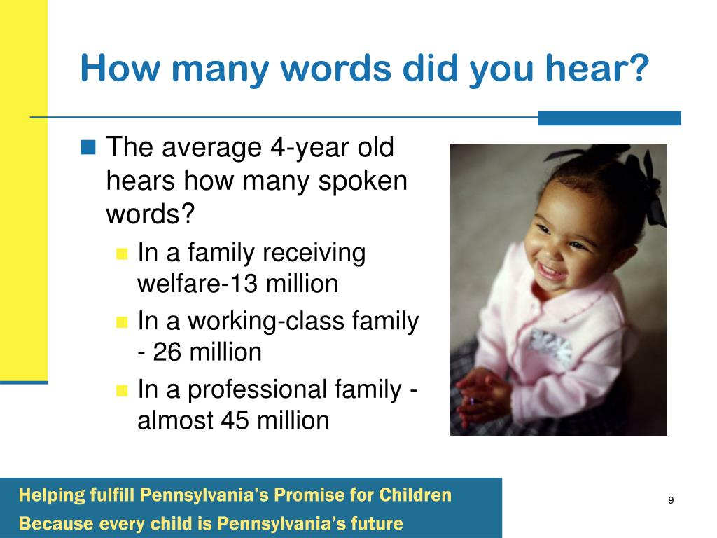 How many words did you hear?