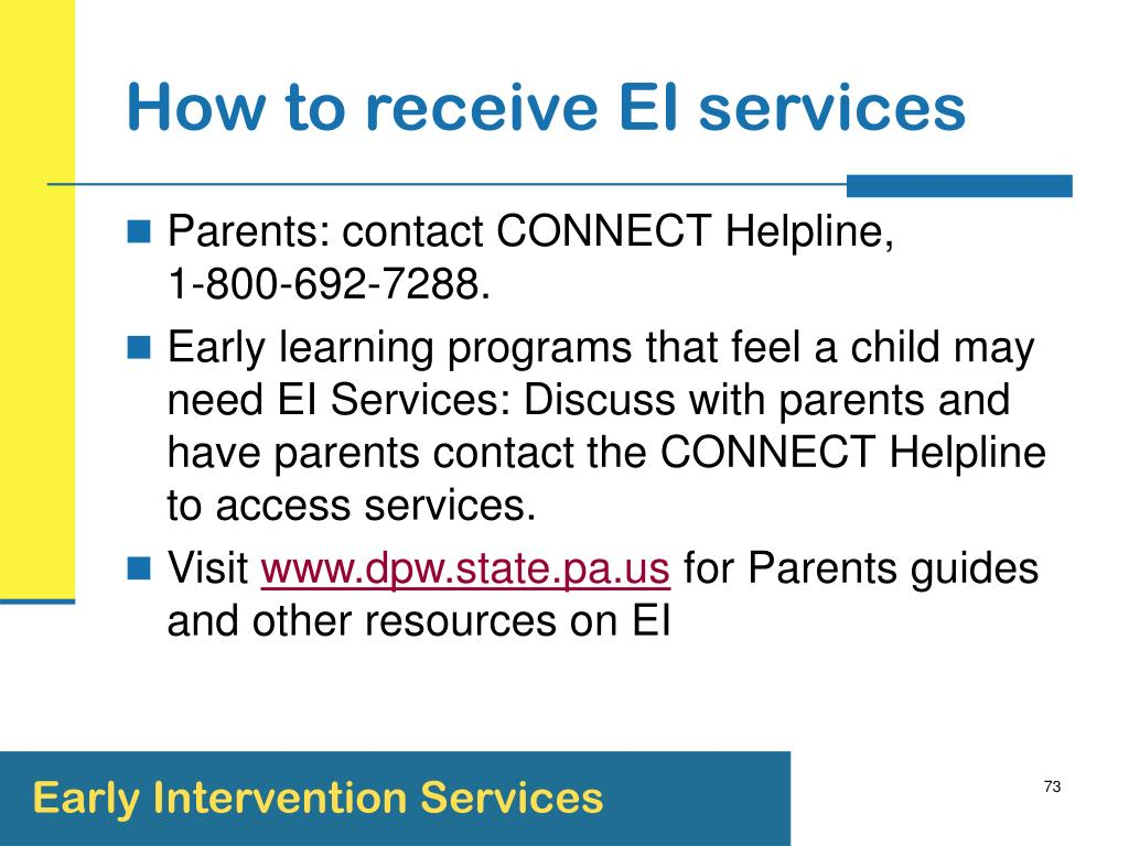 How to receive EI services