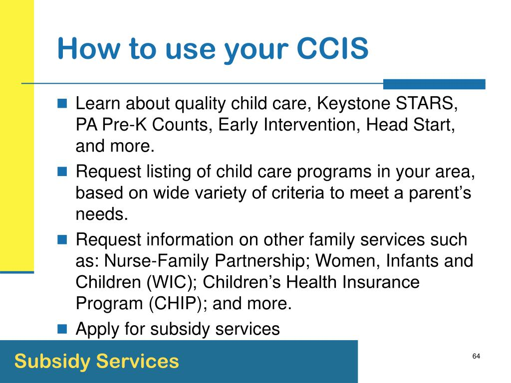 How to use your CCIS