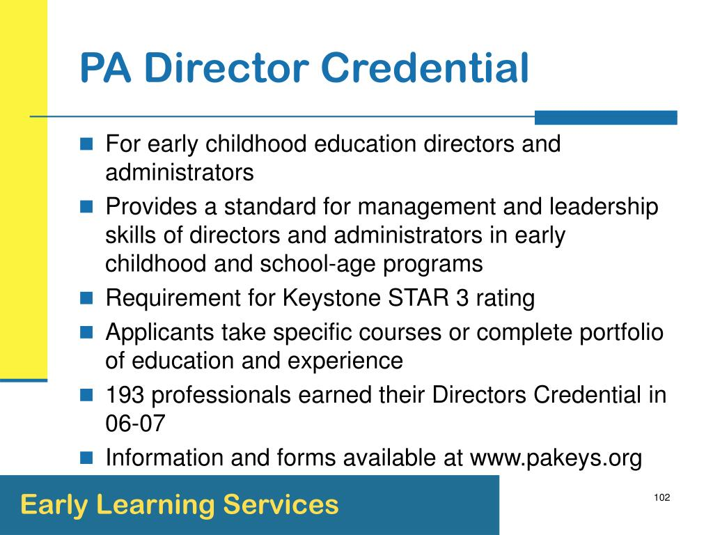 PA Director Credential